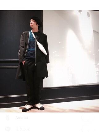 Lui's ルクア大阪店|S.FUJITANIさんの「【WEB限定アイテム】 リンクス配色ニット(Lui's|ルイス)」を使ったコーディネート