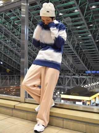 「【WEB限定】 スカ ワイドパンツ(Lui's)」 using this Lui's ルクア大阪店|S.FUJITANI looks