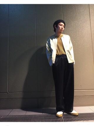 Lui's ルクア大阪店|S.FUJITANIさんの「【WEB限定】 スカ ワイドパンツ(Lui's|ルイス)」を使ったコーディネート