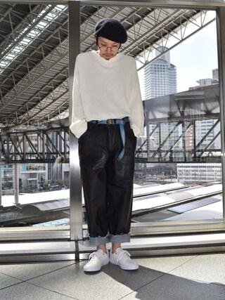 Lui's ルクア大阪店|S.FUJITANIさんの「編み切替ビックニット(Lui's|ルイス)」を使ったコーディネート
