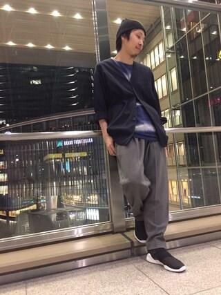 「梨地テーパードパンツ(Lui's)」 using this Lui's ルクア大阪店|S.FUJITANI looks