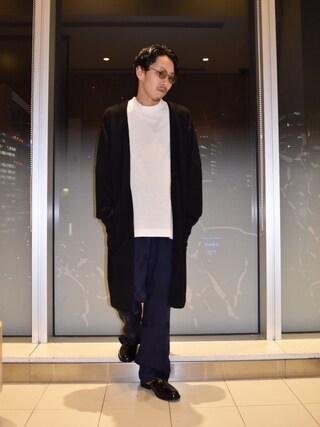 「ロングカーディガン(Lui's)」 using this Lui's ルクア大阪店|S.FUJITANI looks