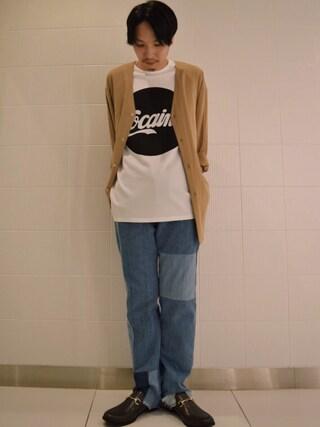 「Vカーデオーバーシャツ(Lui's)」 using this Lui's ルクア大阪店|S.FUJITANI looks