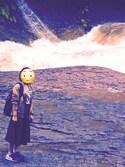 みっさんの「WOMEN ミラノリブカットソーミディスカート(ユニクロ|ユニクロ)」を使ったコーディネート