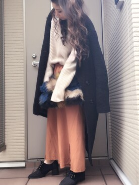 Atake Eriさんの「WOOL-BLEND DOUBLE BREASTED CT(MOUSSY|マウジー)」を使ったコーディネート