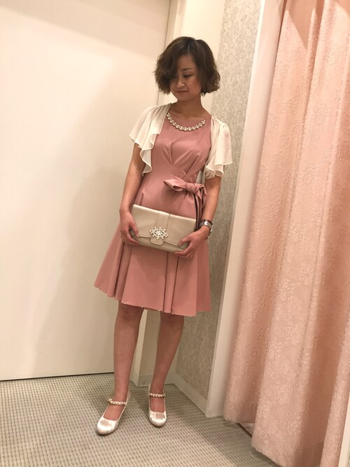 結婚式ピンクコーデ