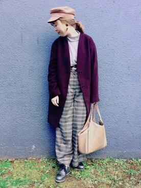 KUMiさんの「WOMEN エクストラファインメリノハイネックセーター(長袖)(ユニクロ|ユニクロ)」を使ったコーディネート