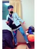 「WEGO/リムレスラウンドカラーレンズ(WEGO)」 using this まっちゃん looks