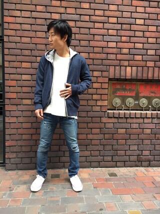 AVIREX 心斎橋|TAKAYUKIさんの(AVIREX|アヴィレックス)を使ったコーディネート