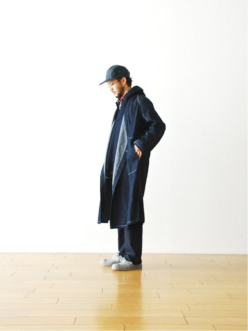 "WONDERMOUNTAINさんの「Needles (ニードルズ) ""Samue Coat- 6.5oz Denim"" ¥29,160-(Needles)」を使ったコーディネート"