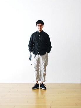 """WONDERMOUNTAINさんの「itten.(イッテン)  """"itten 10 Utility Pants"""" ¥19,980」を使ったコーディネート"""