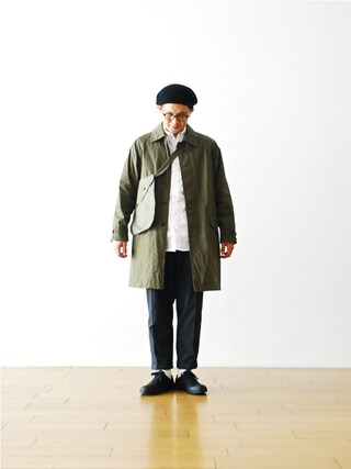 "WONDER MOUNTAIN|WONDERMOUNTAINさんの「ts(s) (ティーエスエス)  ""Fly Front Raglan Sleeve Coat - Cotton Nylon Gabardine Cloth"" ¥52,920-(ts(s)