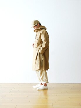 "WONDER MOUNTAIN|WONDERMOUNTAINさんの「KAPTAIN SUNSHINE(キャプテンサンシャイン)  ""Long Anorak"" ¥42,120-(Kaptain Sunshine)」を使ったコーディネート"