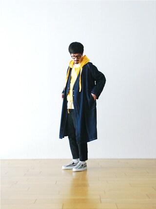 "WONDER MOUNTAIN|WONDERMOUNTAINさんの「Needles (ニードルズ) ""Samue Coat- 6.5oz Denim"" ¥29,160-(Needles|ニードルス)」を使ったコーディネート"