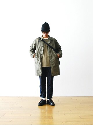 "WONDER MOUNTAIN|WONDERMOUNTAINさんの「Engineered Garments (エンジニアードガーメンツ) ""41 Duster -Coated Linen-"" ¥58,320-(Engineered Garments|エンジニアードガーメンツ)」を使ったコーディネート"
