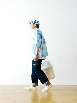 "WONDER MOUNTAIN|WONDERMOUNTAINさんの「NOMA t.d. (ノーマ ティーディー)  ""Cutoff Big Shirt""  ¥25,920-(NOMA t.d.|ノーマティーディー)」を使ったコーディネート"