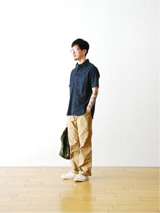 "WONDER MOUNTAIN|WONDERMOUNTAINさんの「TD by itten.(イッテン)  ""itten 16 Baker Pants"" ¥13,932-」を使ったコーディネート"