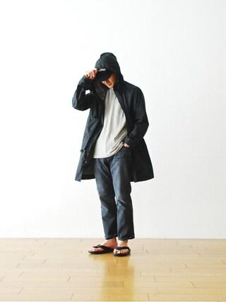 "WONDER MOUNTAIN|WONDERMOUNTAINさんの「nanamica(ナナミカ)  ""Half Sleeve Crew Neck Shirt"" ¥7,776-(nanamica|ナナミカ)」を使ったコーディネート"