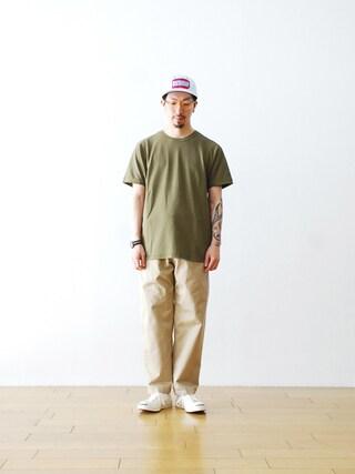 "WONDER MOUNTAIN|WONDERMOUNTAINさんの「STONE ISLAND(ストーンアイランド ) ""TEE Shirt -S/S-"" ¥18,360-(STONE ISLAND|ストーンアイランド)」を使ったコーディネート"