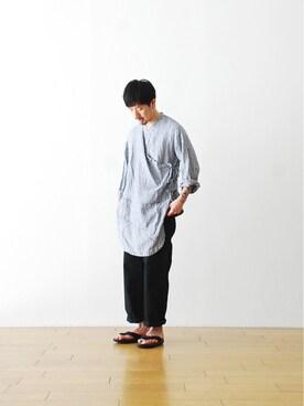 """WONDERMOUNTAINさんの「itten.(イッテン)  """"ambivalent shirts"""" ¥28,080-」を使ったコーディネート"""