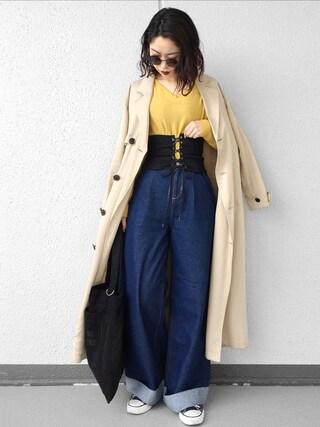 Ł♡(ぁぃ)νЁさんの「ドルマン前後2WAYプルオーバー(natural couture|ナチュラルクチュール)」を使ったコーディネート