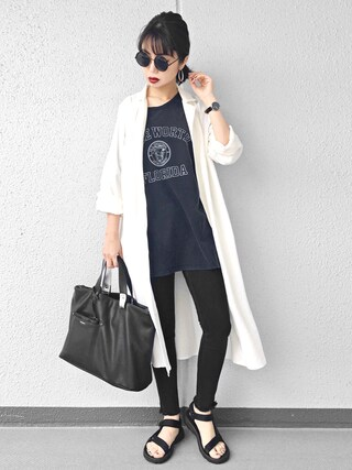 「【moussy/マウジー】Light Leather トートL(MOUSSY)」 using this Ł♡(ぁぃ)νЁ looks
