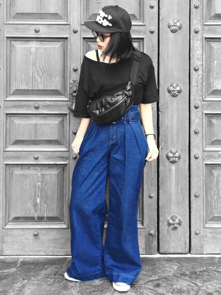 「select V over Tシャツ(EMODA)」 using this Ł♡(ぁぃ)νЁ looks