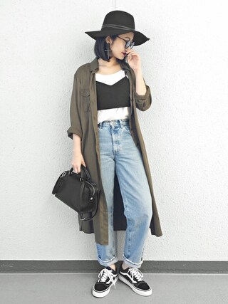 「2WAY LEATHER BELT HAT(MOUSSY)」 using this Ł♡(ぁぃ)νЁ looks