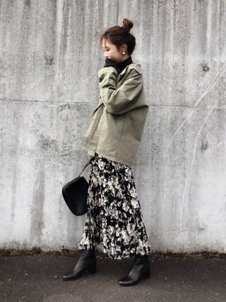 yurieさんのニット/セーター「【THE NEWHOUSE/ザ ニューハウス】ベッチュウCOTTONCASHMERE L/S:ニット◆(journal standard L'essage ジャーナルスタンダードレサージュ)」を使ったコーディネート