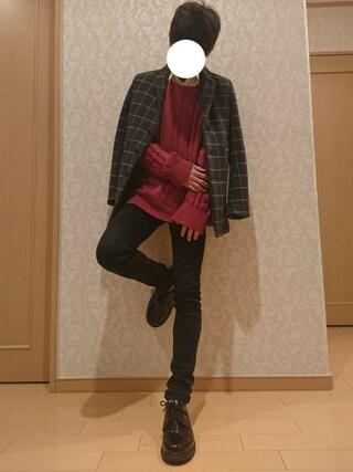 けんぞさんの「【ZOZO限定】 STUDIOUS エンブロイダリーカラーNEWブロードシャツ -made in japan-(STUDIOUS|ステュディオス)」を使ったコーディネート