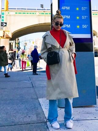 「Stella McCartney Falabella Mini Quilted Studs Tote Bag, Black(Stella McCartney)」 using this mayu looks