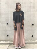 「ROCK ロングスリーヴTEE(E hyphen world gallery)」 using this ayu looks