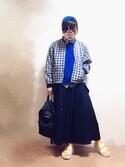 """wakaba@ is wearing override """"COTTON TURBAN"""""""