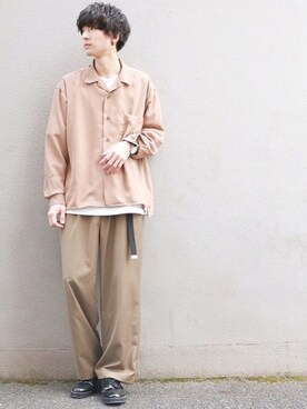 テシマさんの「サテンカイキンシャツ(HARE)(HARE)」を使ったコーディネート