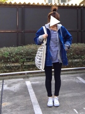 MEGUMIさんの「W-TOTE LARGE STAR&LOGO(X-girl Stages)」を使ったコーディネート