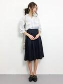吉岡由梨子さんの「《追加2》PEグログランタックスカート◆(IENA|イエナ)」を使ったコーディネート