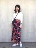 日向子さんの「メッシュベルトスニーカー(studio CLIP|スタディオクリップ)」を使ったコーディネート