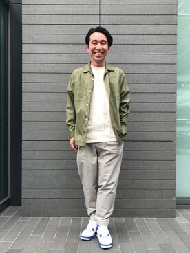 EN ROUTE GINZA|R.Nakagawaさんのシャツ/ブラウス「ENR オープンカラーシャツ(EN ROUTE|アンルート)」を使ったコーディネート