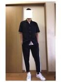 「オープンカラーシャツ(半袖)(ユニクロ)」 using this HIRO looks