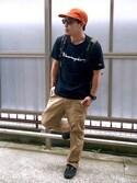 SHIN5さんの「WEGO/ChampionロゴTシャツ(Champion)」を使ったコーディネート