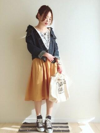 「刺繍ボリュームBLシャツ(THE EMPORIUM)」 using this haru  looks