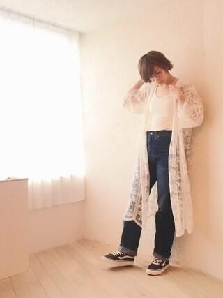 石川 瑠利子さんの「パネル刺繍レースガウン(PAGEBOY|ページボーイ)」を使ったコーディネート