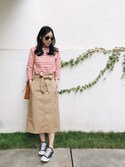 「Mansur Gavriel Mini Mini pink-lined leather bucket bag(Mansur Gavriel)」 using this W. looks
