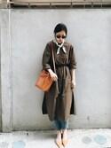 「Mansur Gavriel Mini Mini pink-lined leather bucket bag(Mansur Gavriel)」 using this W. looks