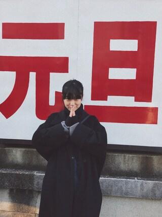 小谷実由さんの「KNIT(mame|マメ)」を使ったコーディネート