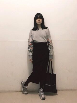 小谷実由さんの「トップス(mame|マメ)」を使ったコーディネート