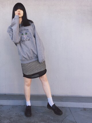 小谷実由さんの「タイトスカート(mame|マメ)」を使ったコーディネート