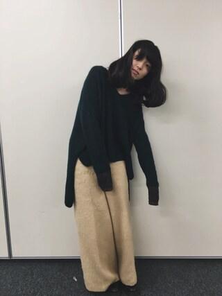 「KBF シャギーワイドパンツ(KBF)」 using this 小谷実由 looks