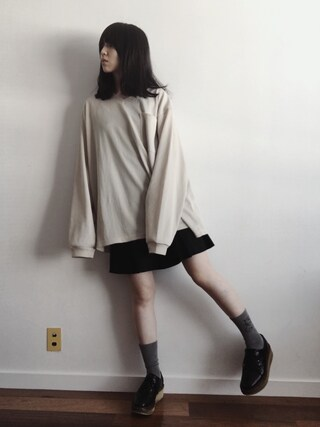 「Box tuck short pants(BLACK BY MOUSSY)」 using this 小谷実由 looks