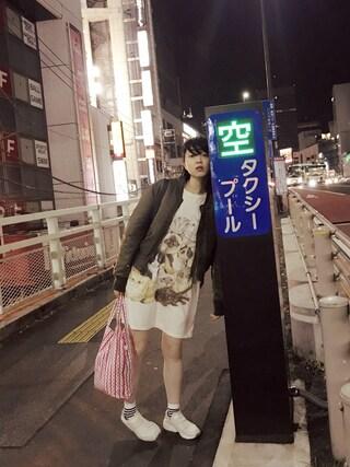 「mame 刺繍MA-1(mame)」 using this 小谷実由 looks